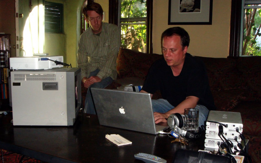 Chris and Barry editing THE POOL.