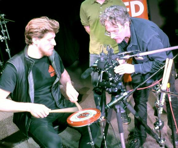 Jack Davidson films FAST COMPANY.