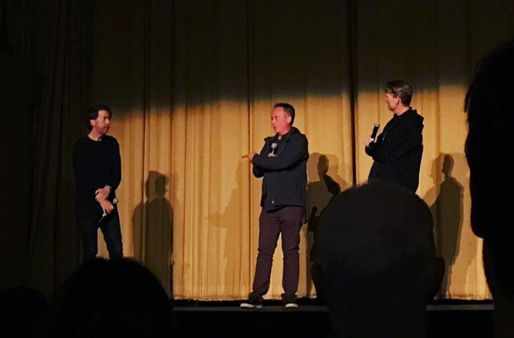 Chris and Barry doing a Q&A for JIM & ANDY at S.F. Film Festival.