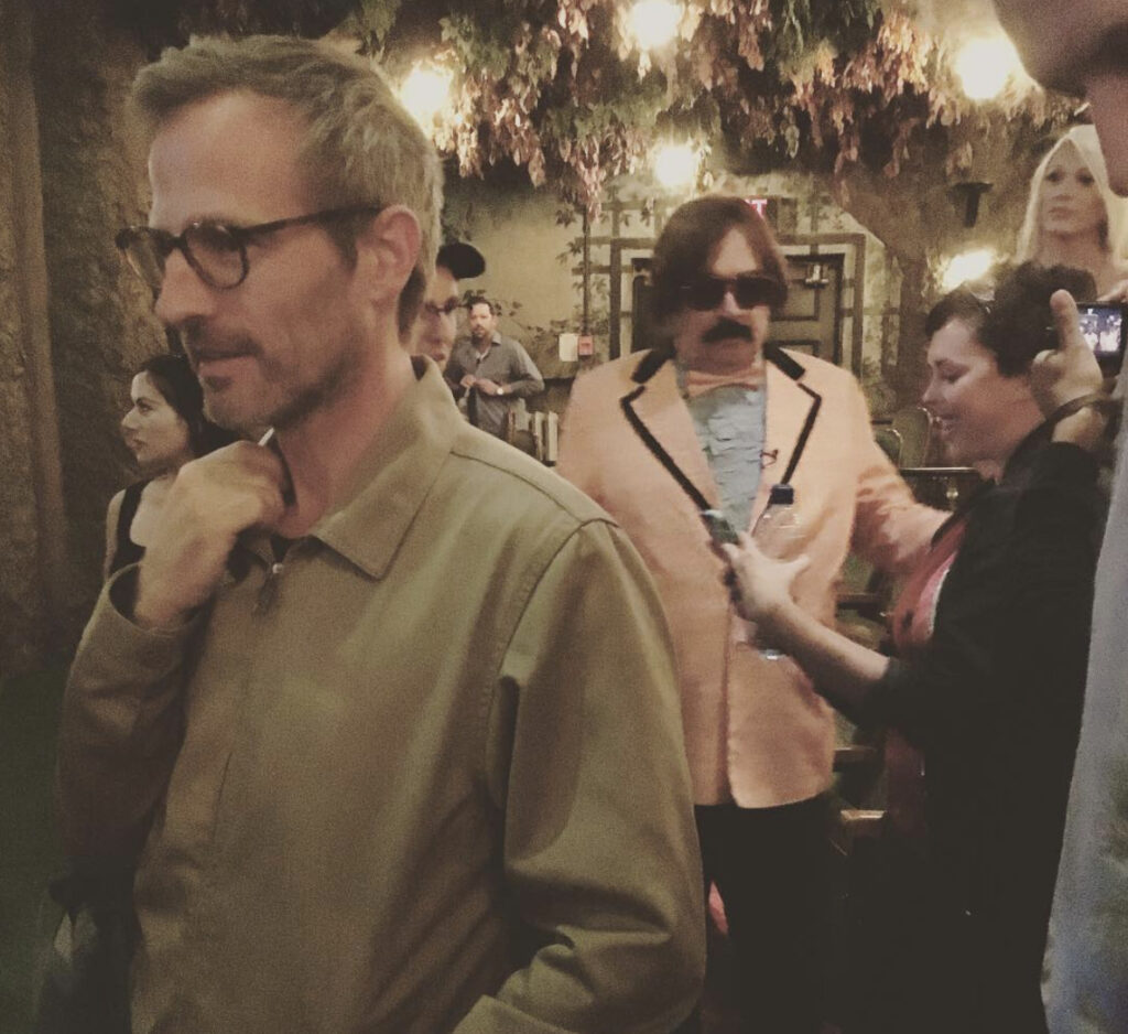 Tony Clifton (BG) & Spike Jonze Foreground, @TIFF for JIM & ANDY.