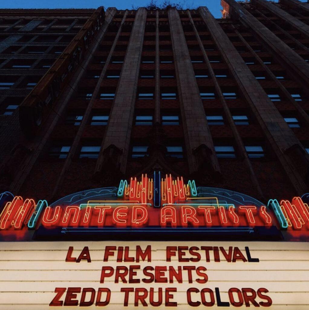 Zedd TRUE COLORS premiere in LA.