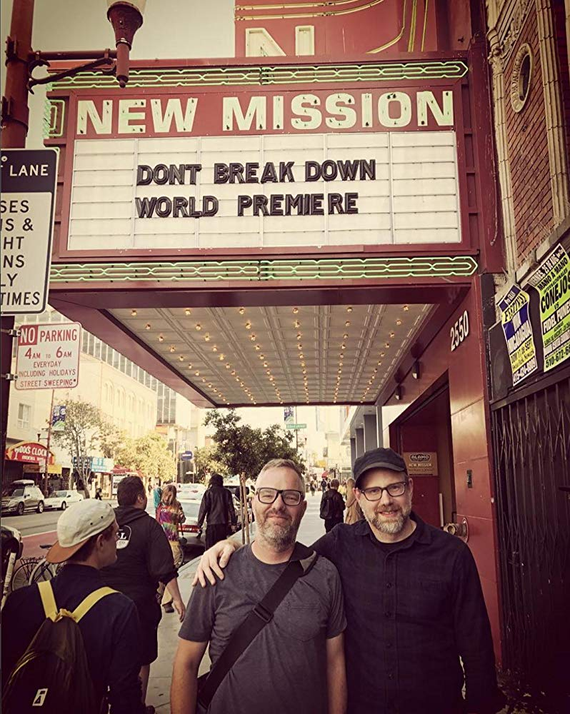 Tim and Dan at the DON'T BREAK DOWN premiere in S.F.